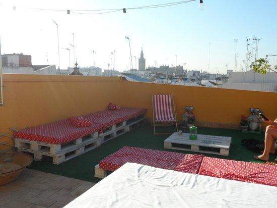 La Flamenka Hostel: terrasse