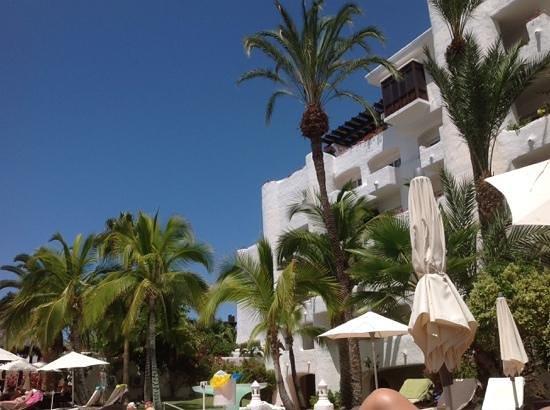 Hotel Jardin Tropical: Vista desde piscina2