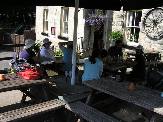 Drinks outside The Postgate Inn