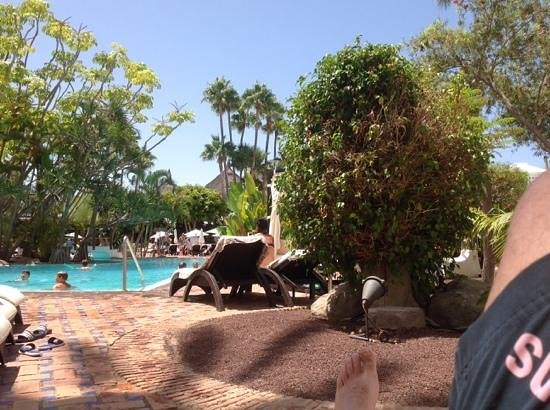 Hotel Jardin Tropical: Vista desde piscina4