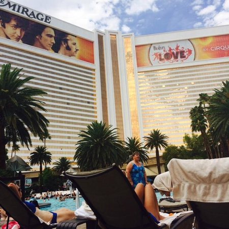 The Mirage Hotel & Casino: View from the pool