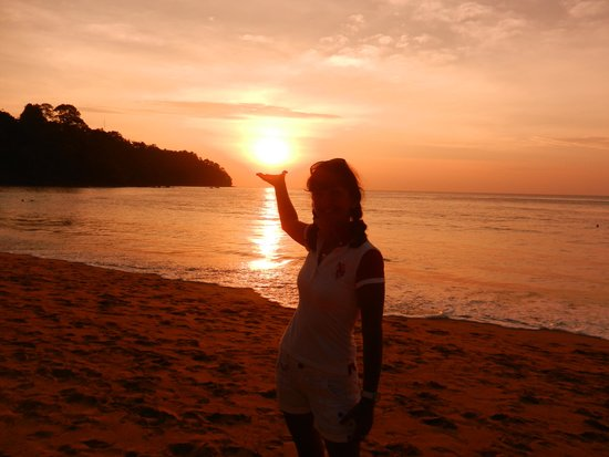 Khaolak Bayfront Resort Hotel Khao Lak: Sonnenuntergang festgehalten