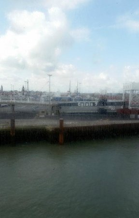 P&O Ferries - Day Trips : View of Calais Port from the ferry.