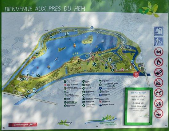 Les Pres du Hem: Le plan du parc.