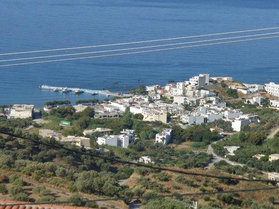 AnnaView Apartments : uitzicht op Plakias vanaf terras