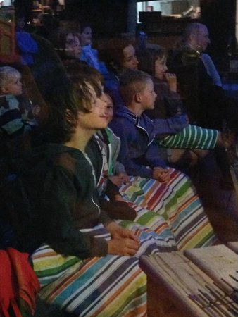 Camping Huttopia Dieulefit : Activities included night time outdoor cinema