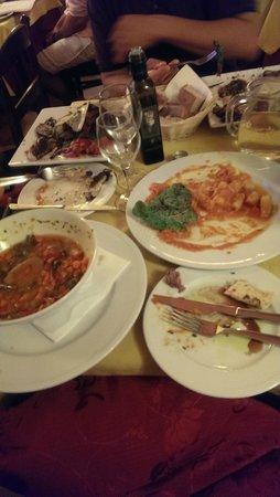Il Leone Rosso Ristorante Pizzeria: So full given the huge portion