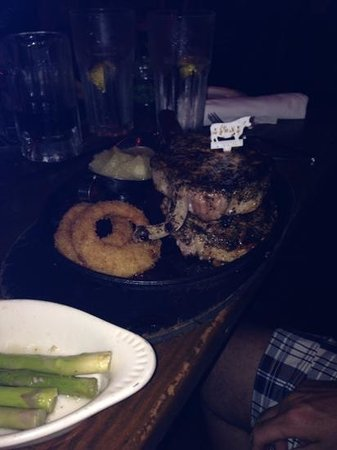 McGuire's Irish Pub: the pork chops
