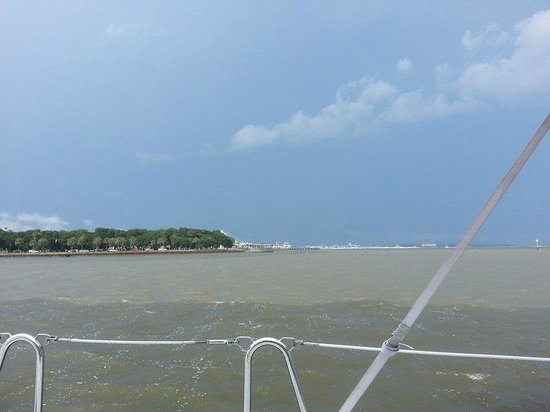 Charleston Sailing Private Day Charters : Waters of different salinity