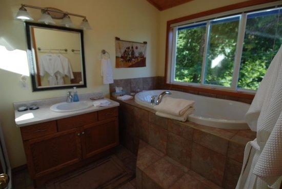 Blue Bear Bed and Breakfast : bagno con la vista