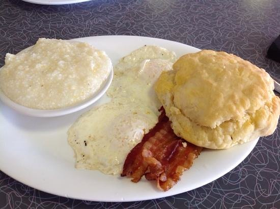 Grits Grill : egg grits bacon