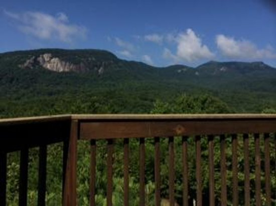Rumbling Bald Resort on Lake Lure: view from the back deck.  1 of two