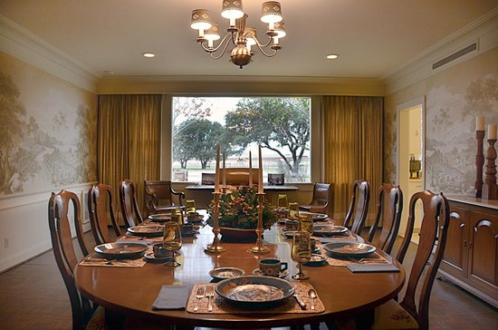 Lyndon B Johnson National Historical Park Texas White House Dining Room