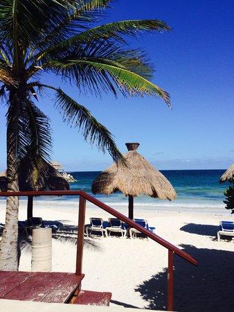 Hotel Marina El Cid Spa & Beach Resort: Picturesque Beach with hammocks.