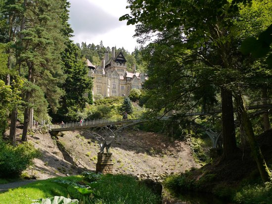 Cragside House and Gardens: View of the house