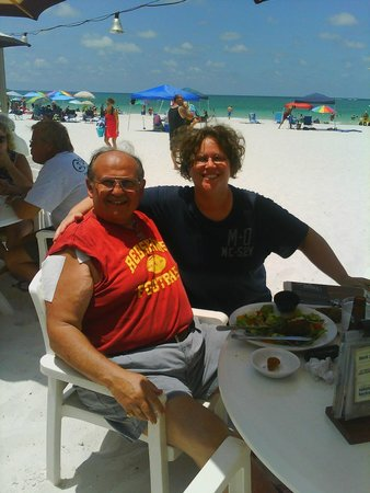 Sandbar Restaurant: With one of my daughters on my birthday in 2010.