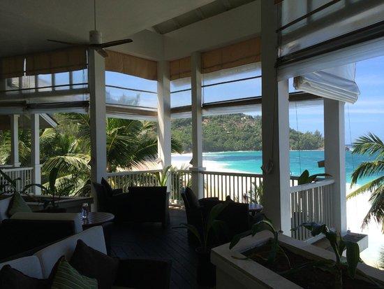 Banyan Tree Seychelles : Vue depuis restaurant
