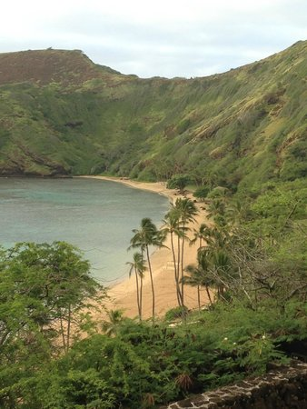 Hanauma Bay Nature Preserve : View from top before you walk down-early morning