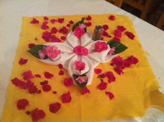 Al Jazira Beach & Spa : la jolie décoration une fois la chambre faite par la femme de ménage!