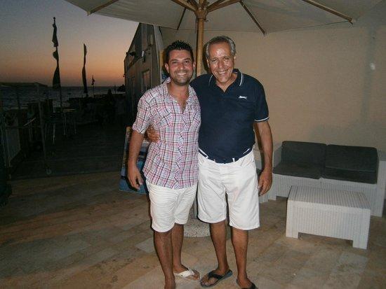Radisson Blu Resort & Spa, Malta Golden Sands: With Henry just before the Wednesday BBQ night.
