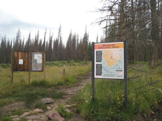 Wheeler Geologic Area: Trail Head at Hansen's Mill