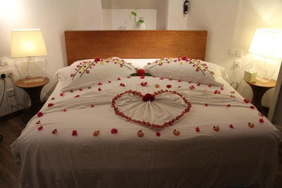 Centara Grand Island Resort & Spa Maldives: Bed nicely decorated