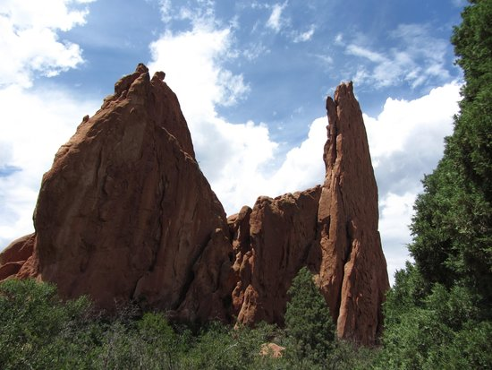 Jardín de los dioses (Garden of the Gods): Scenic red rocks