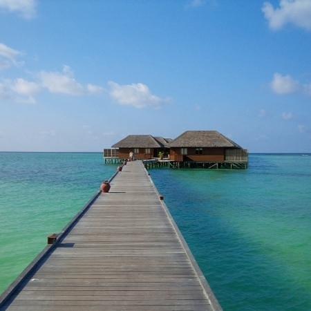Meeru Island Resort & Spa : bungalow au nord de l ile
