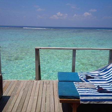 Meeru Island Resort & Spa : vue de la terrasse 730