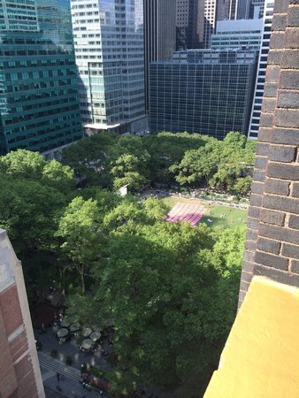 The Bryant Park Hotel: View from the terrace - Jr Suite 1901