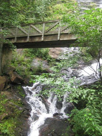 Amicalola Falls State Park: View of the bridge and falls