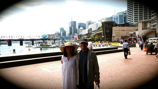 The Australian Heritage Hotel: Walking near the famous water area