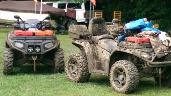 KJC ATV Rentals and Trails of South Haven: Yes, there is mud. We found lots of it!