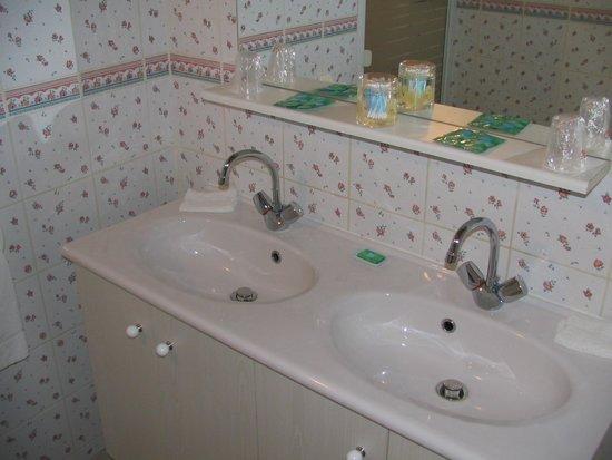 Ferme Auberge du Blaisel: Salle d'eau douche.