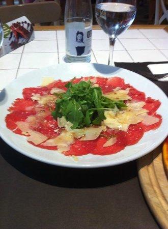 Restaurant La Poma: Beef Carpaccio. very good