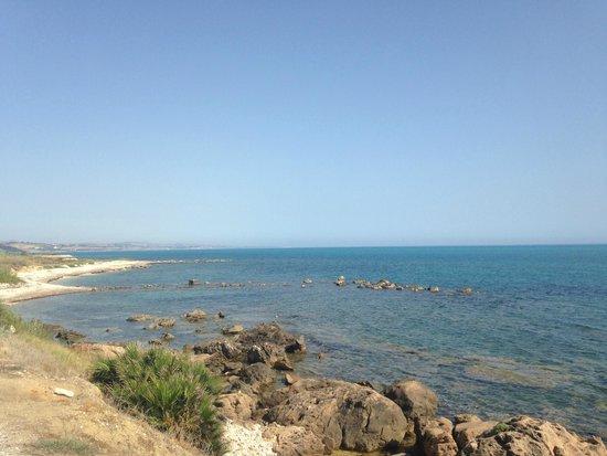 Club Alicudi Hotel : Vue de la mer dans le petit train