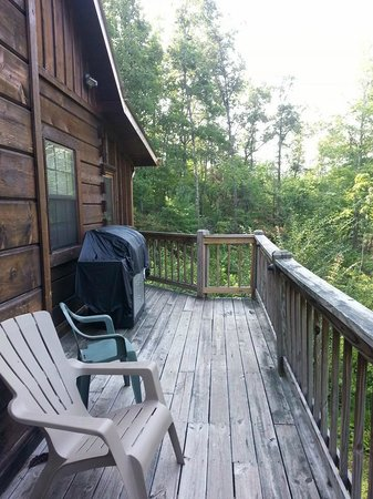 Laurel Mountain Cabins: Back Porch