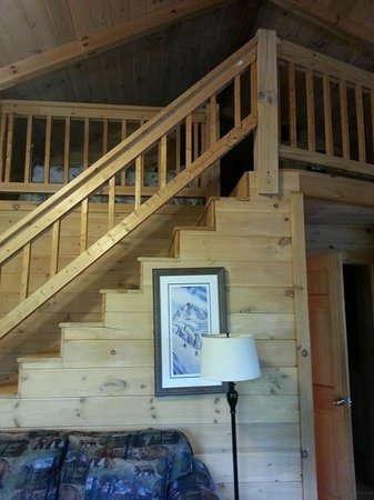 Laurel Mountain Cabins : Loft Area