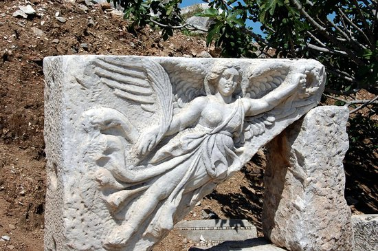 Ancient City of Ephesus: Statue of Nike, the Goddess of Victory (see the Nike Logo?)
