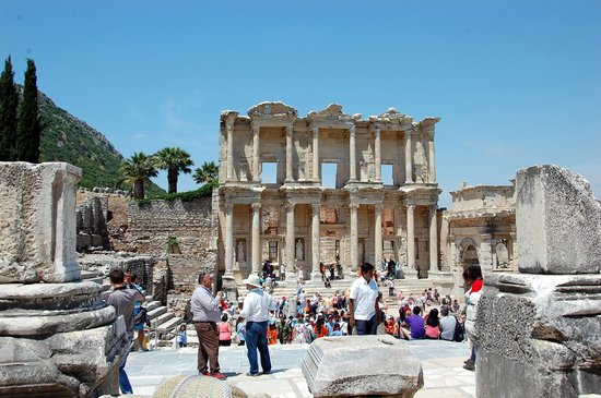 Ancient City of Ephesus: The Library of Celsus at Ephesus (end of main avenue)