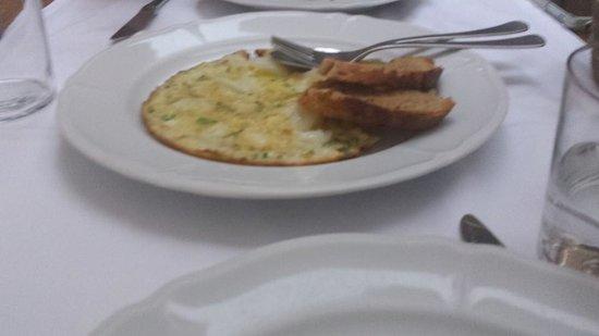 Cafe De L'Academia : Leek and Cod Omelet