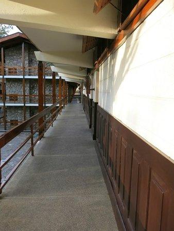 Lobo Wildlife Lodge: Couloir pour accéder aux chambres