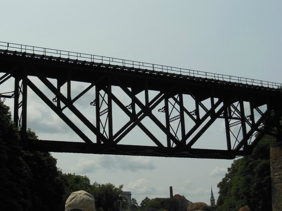 Lockport Locks & Erie Canal Cruises: 100 YRS OLD UPSIDE DOWN  TRAIN BRIDGE
