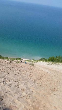 Pyramid Point Trail: Looking down the dune