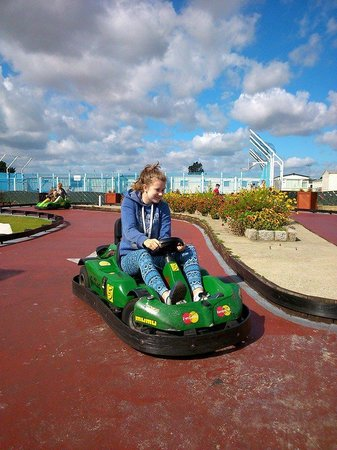 California Cliffs Holiday Park - Park Resorts: Go carts only 50p so lots of goes :-)