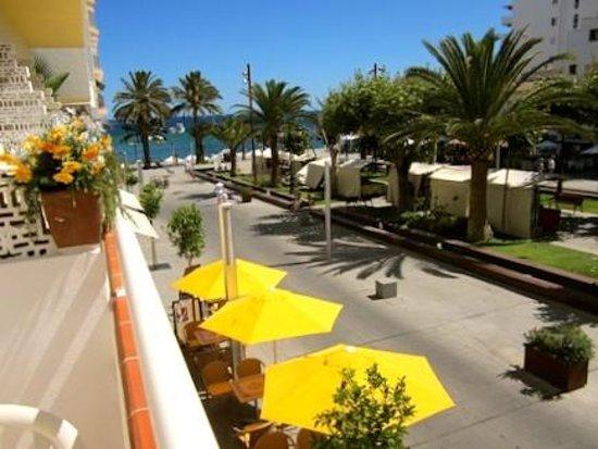 Hostal Yebisah : Vista desde el balcón