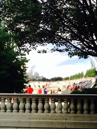 Millennium Park : Here's a view from the bridge