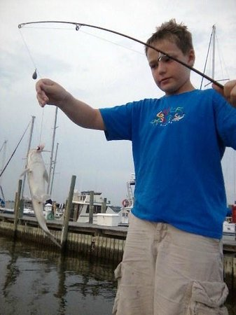 The Lighthouse Condominiums: He caught one!