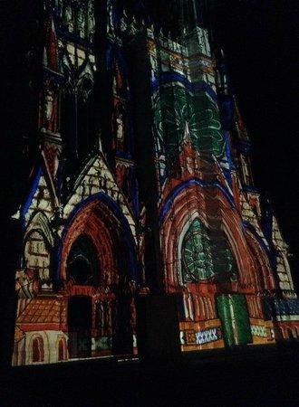 Cathedrale Notre-Dame de Reims: Son et Lumiere show - stunning