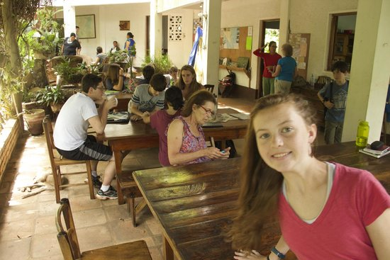 La Mariposa Spanish School and Eco Hotel: Common area where guests eat, gather and study and where teachers meet students